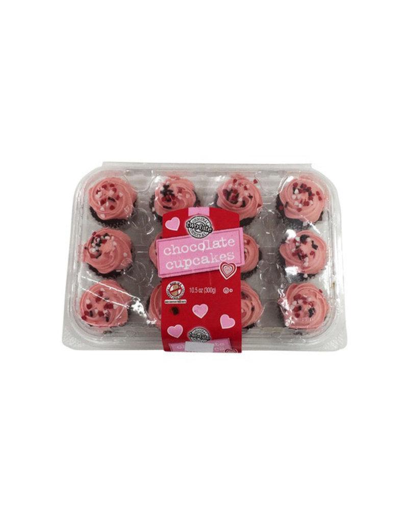Two Bite Two Bite Valentine Chocolate Cupcakes, 10 oz
