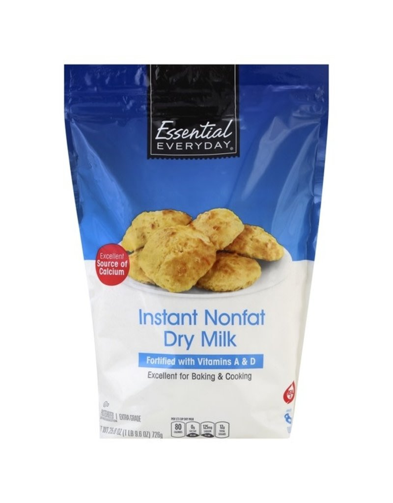 Essential Everyday EED Dry Instant Nonfat Milk, 25.6 oz, 6 ct