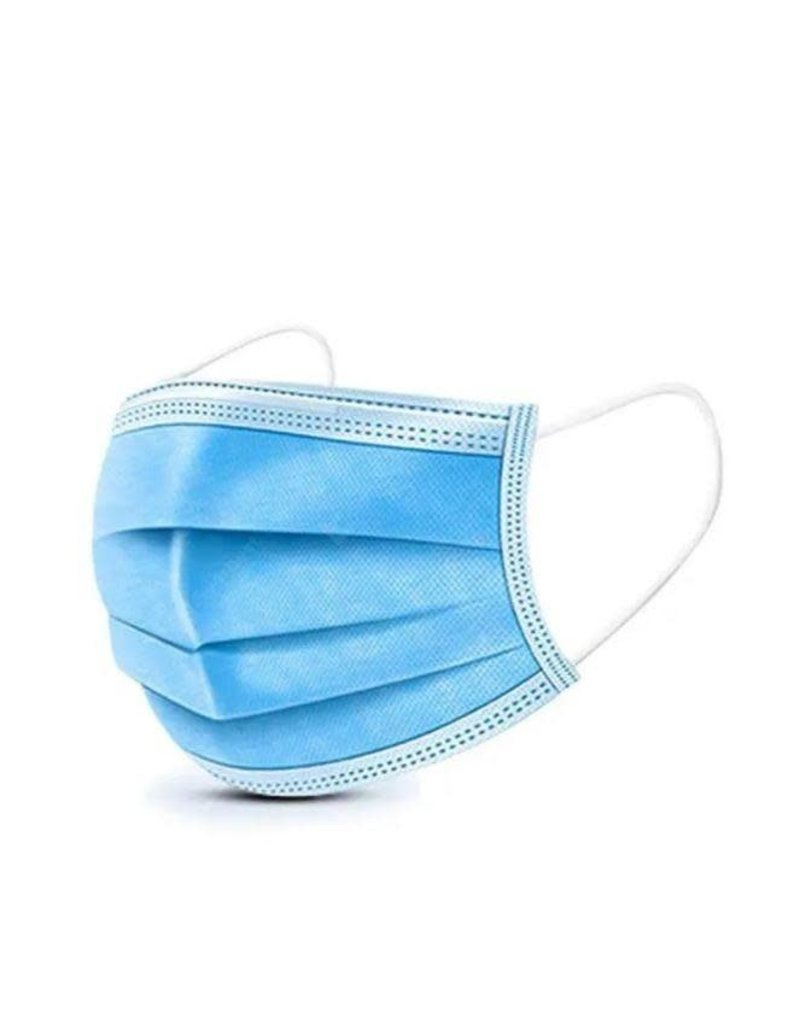Parker Packer Face Mask 3-Ply Disposable, 50 ct