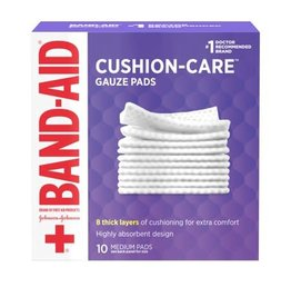 Band-Aid Band-Aid Cushion-Care Gauze Pad, 10 ct