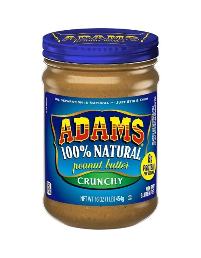 Adams Adams Peanut Butter Crunchy, 16 oz, 12 ct