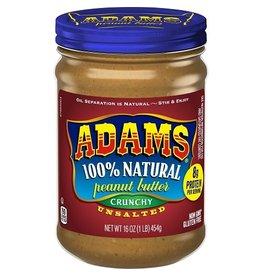 Adams Adams Pnt Bttr Unsalted Crunchy, 16 oz