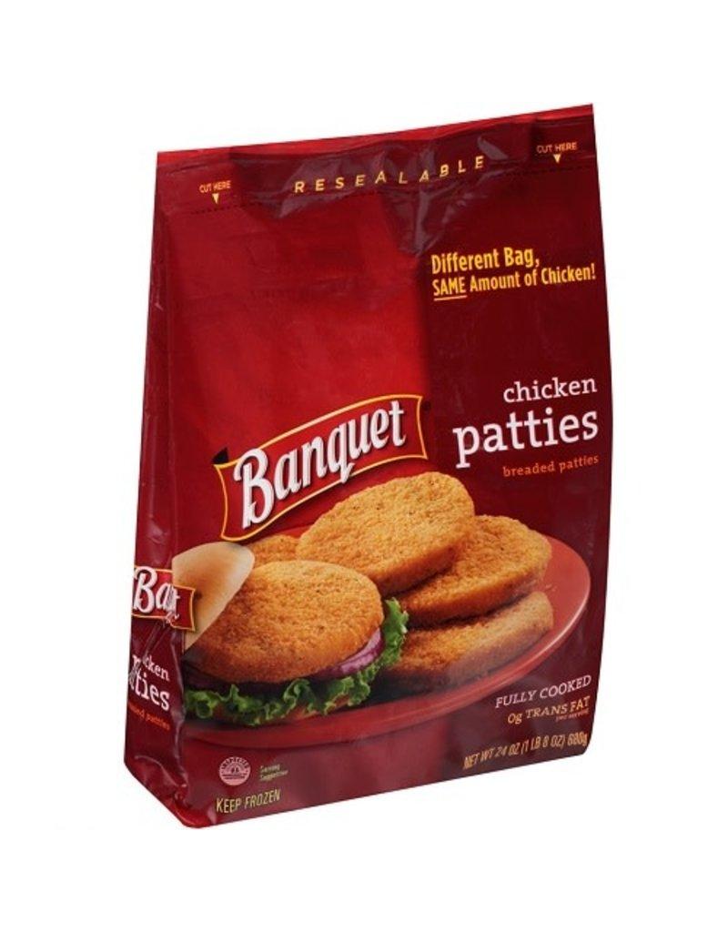 Banquet Banquet Chicken Patty Original Bag, 24 oz, 8 ct