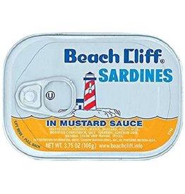 Beach Cliff Beach Cliff Sardine Mustard, 3.75 oz