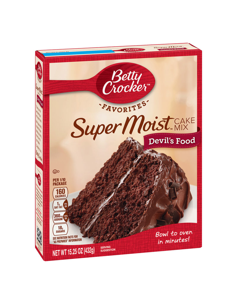 Betty Crocker Betty Crocker Cake Mix Devils Food, 15.25 oz, 12 ct