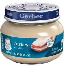 Gerber Gerber 2nd Foods Turkey and Gravy, 2.5 oz