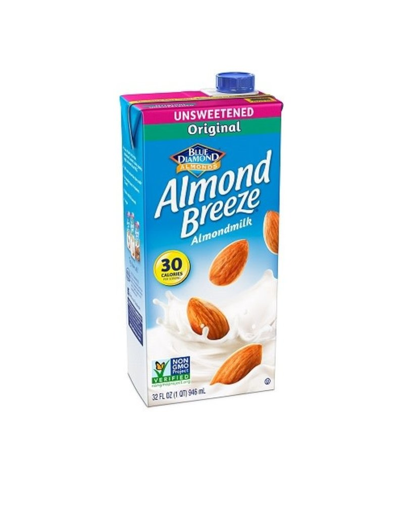 Blue Diamond Blue Diamond Almond Breeze Almondmilk Unsweetened Original, 32 oz, 12 ct