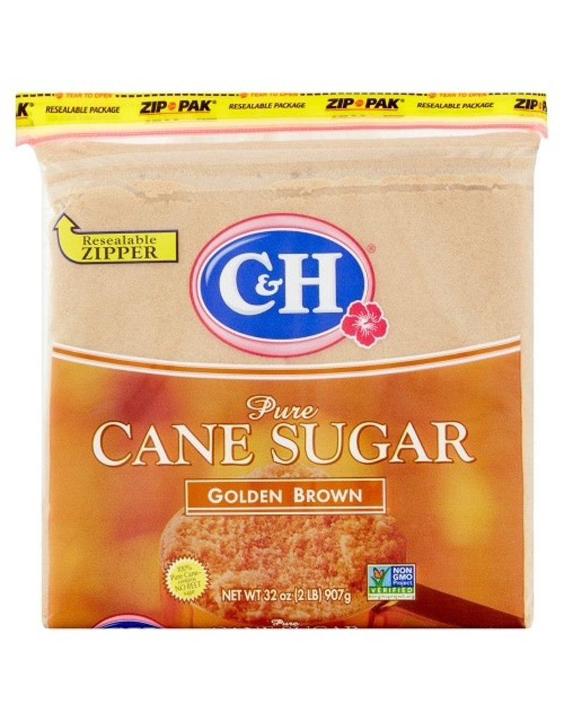 C&H C&H Sugar Brown Golden, 2 lb, 16 ct