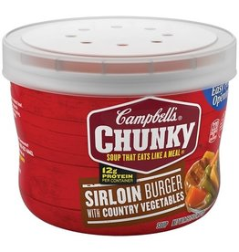 Campbell's Campbell's Chunky Soup Sirloin Burger Microwave Bowl, 15.26 oz, 8 ct