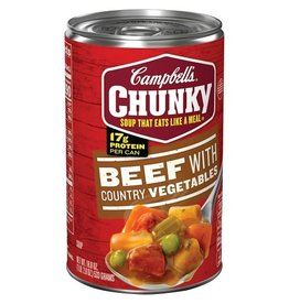 Campbell's Campbells Soup Chunky Soup Beef with Country Vegetables, 18.8 oz, 12 ct