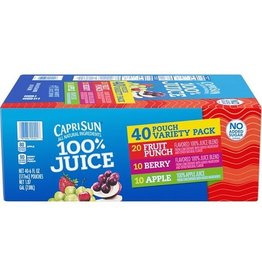 Capri Sun Capri Sun 100% Juice Variety Pack, 10 ct (Pack of 4)
