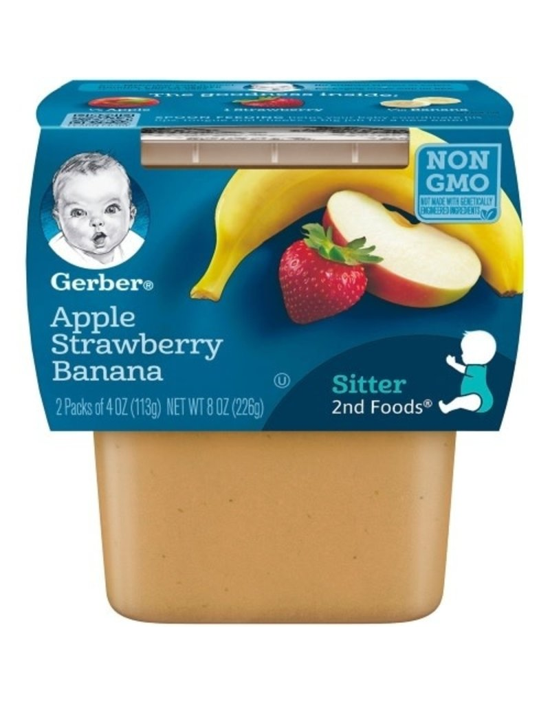 Gerber Gerber 2nd Apple Strawberry Banana, 8 oz