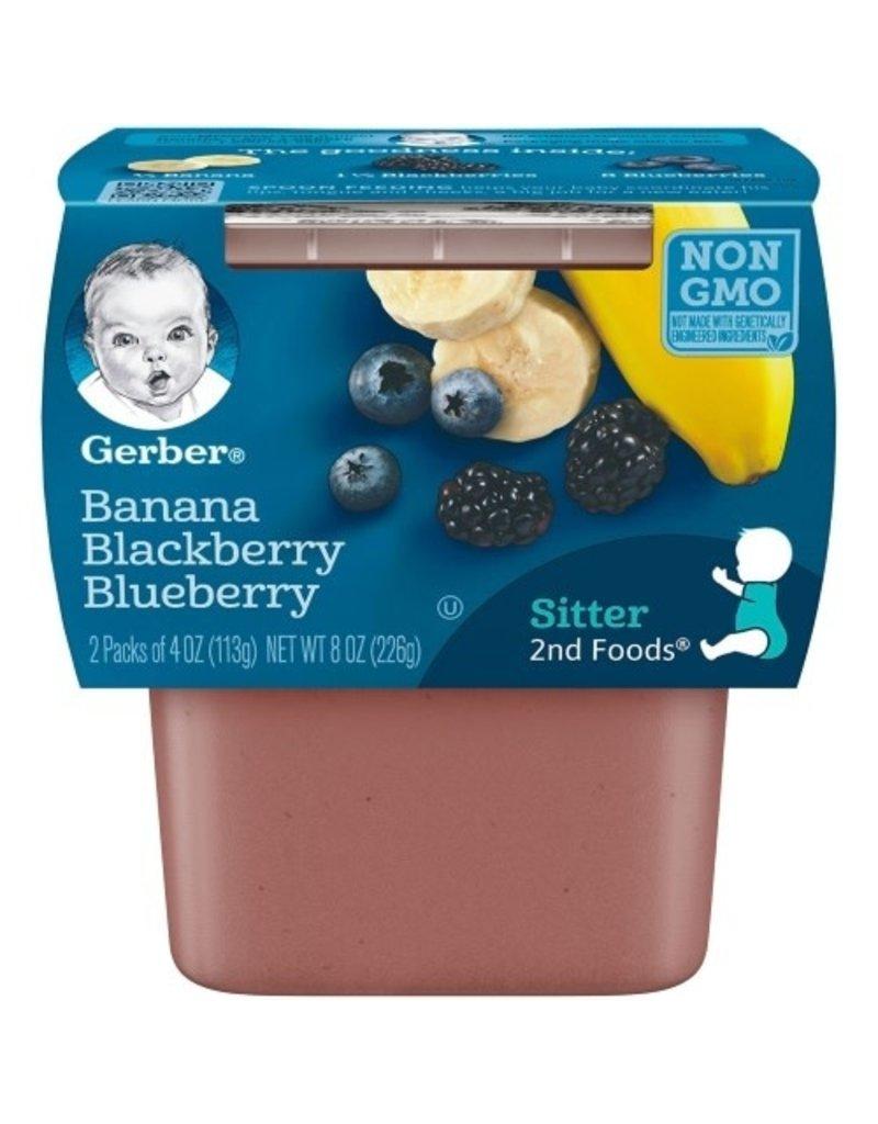 Gerber Gerber 2nd Foods Banana Blackberry Blueberry, 8 oz