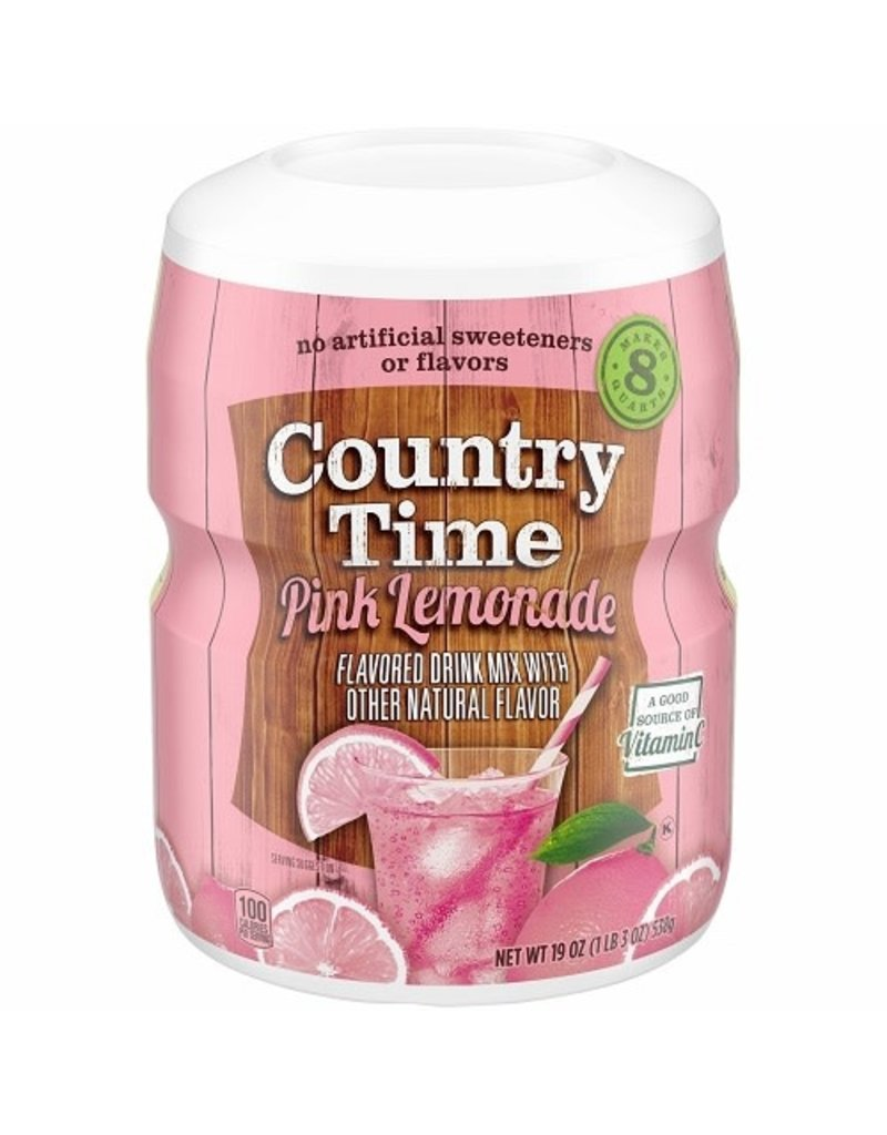 Country Time Country Time Pink Lemonade (Makes 8 Quarts), 19 oz, 12 ct