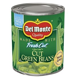 Del Monte Del Monte Cut Green Beans, 8 oz, 12 ct