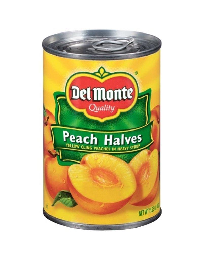 Del Monte Del Monte Peach Halves Heavy Syrup, 15 oz, 12 ct