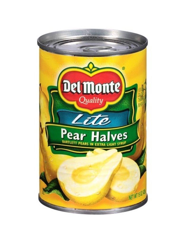 Del Monte Del Monte Pear Halves Lite Syrup, 15 oz, 12 ct