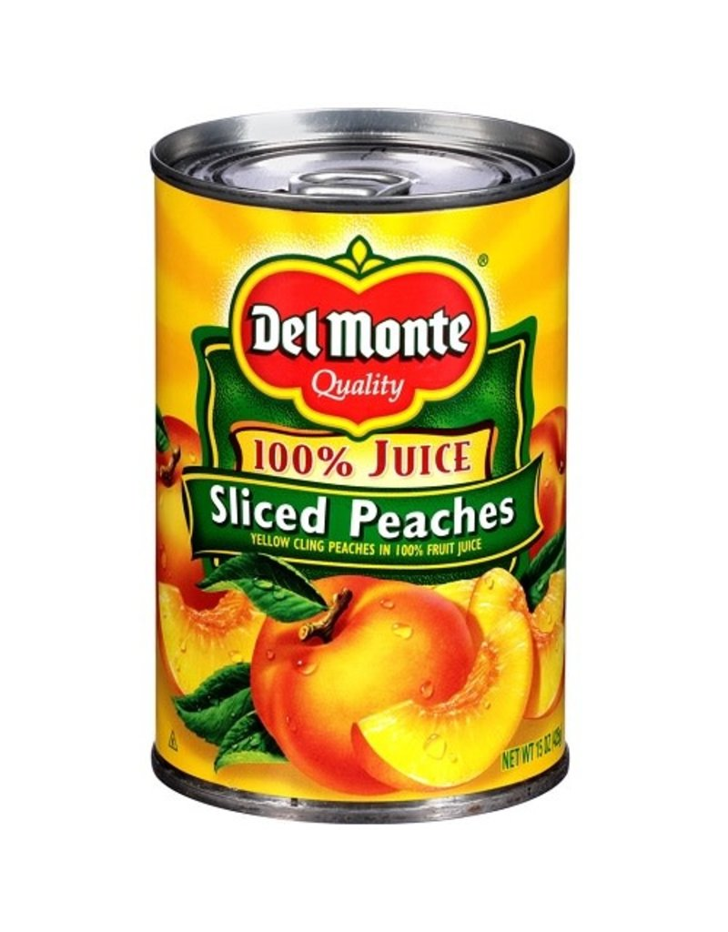 Del Monte Del Monte Sliced Natural Peaches, 15 oz, 12 ct
