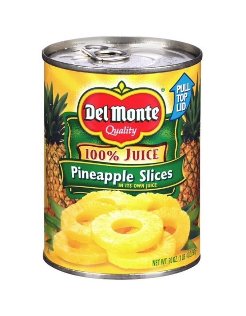 Del Monte Del Monte Sliced Pineapple, 20 oz