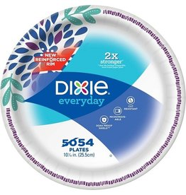 Dixie Dixie Paper Plates 10'' Flowers, 54 ct (Pack of 5)