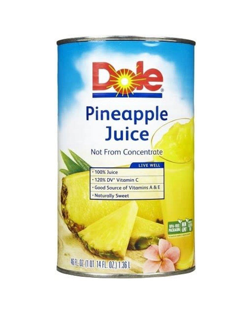 Dole Dole 100% Pineapple Juice, 46 oz, 12 ct