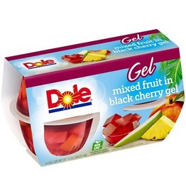Dole Dole Black Cherry Fruit Mix Cup, 4 ct (Pack of 6)