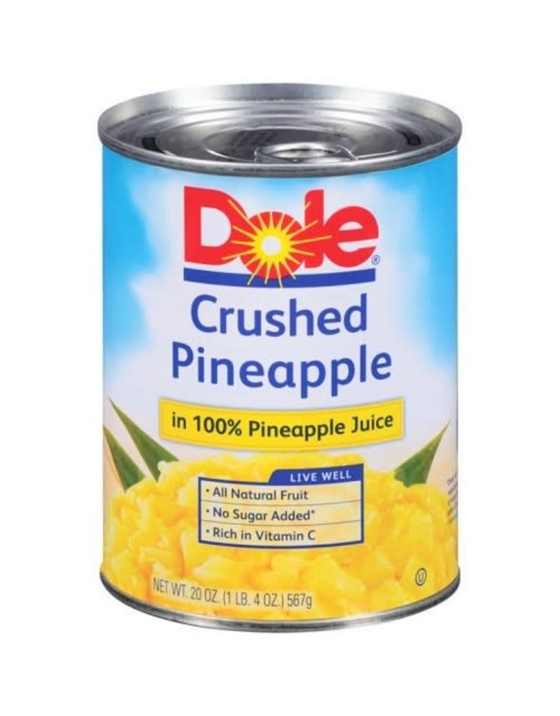 Dole Dole Crushed Pineapples In Juice, 20 oz