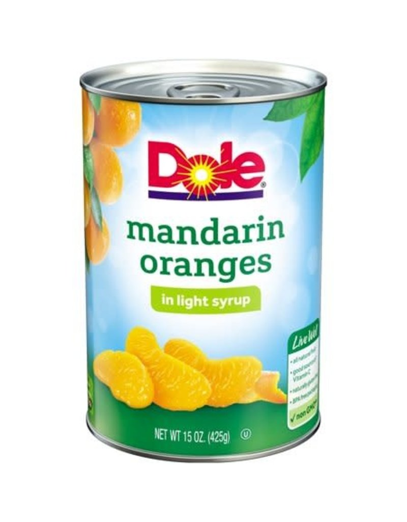 Dole Dole Mandarin Oranges, 15 oz, 12 ct