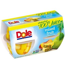 Dole Dole Mixed Fruit In Juice Cup, 4 ct (Pack of 6)