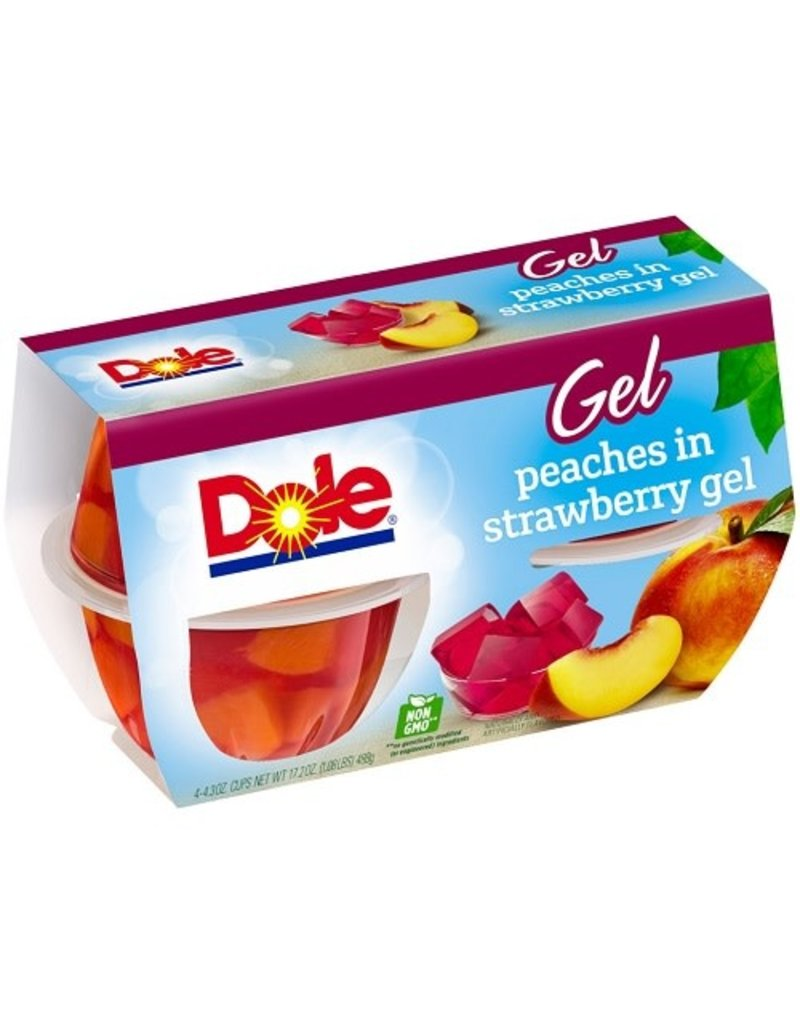 Dole Dole Peach/Strawberry Cup 4 ct, 4.3 oz (Pack of 6)