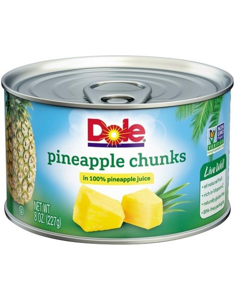 Dole Dole Pineapple Chunks In Juice, 8 oz