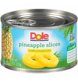 Dole Dole Pineapple Sliced In Juice, 8 oz
