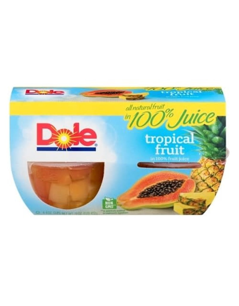 Dole Dole Tropical Fruit In Juice Cup, 4 ct (Pack of 6)