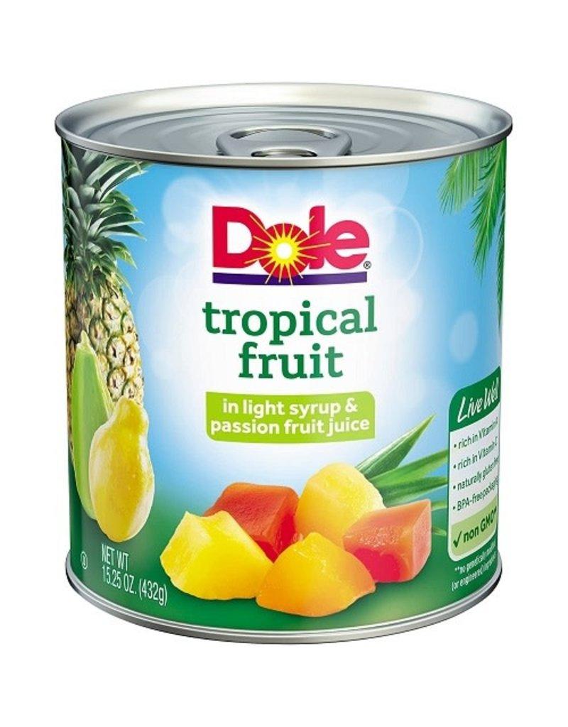 Dole Dole Tropical Fruit Mix, 15.25 oz, 12 ct