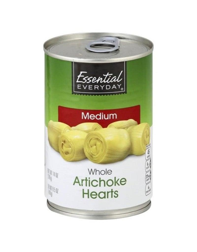Essential Everyday EED Artichoke Hearts Whole, 14 oz