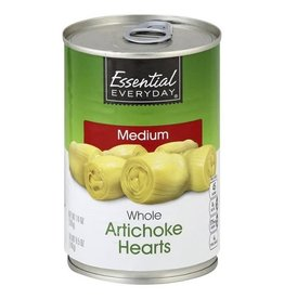 Essential Everyday EED Artichoke Hearts Whole, 14 oz, 12 ct
