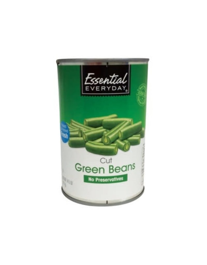 Essential Everyday EED Green Beans French Cut, 14.5 oz, 24 ct