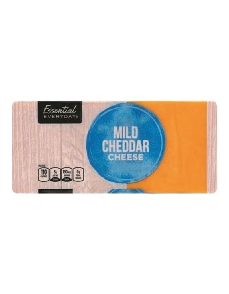 Essential Everyday EED Mild Cheddar Cheese, 16 oz, 12 ct