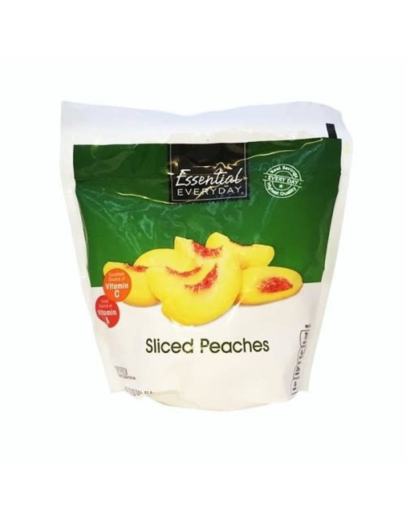 Essential Everyday EED Frozen Sliced Peaches, 16 oz, 12 ct
