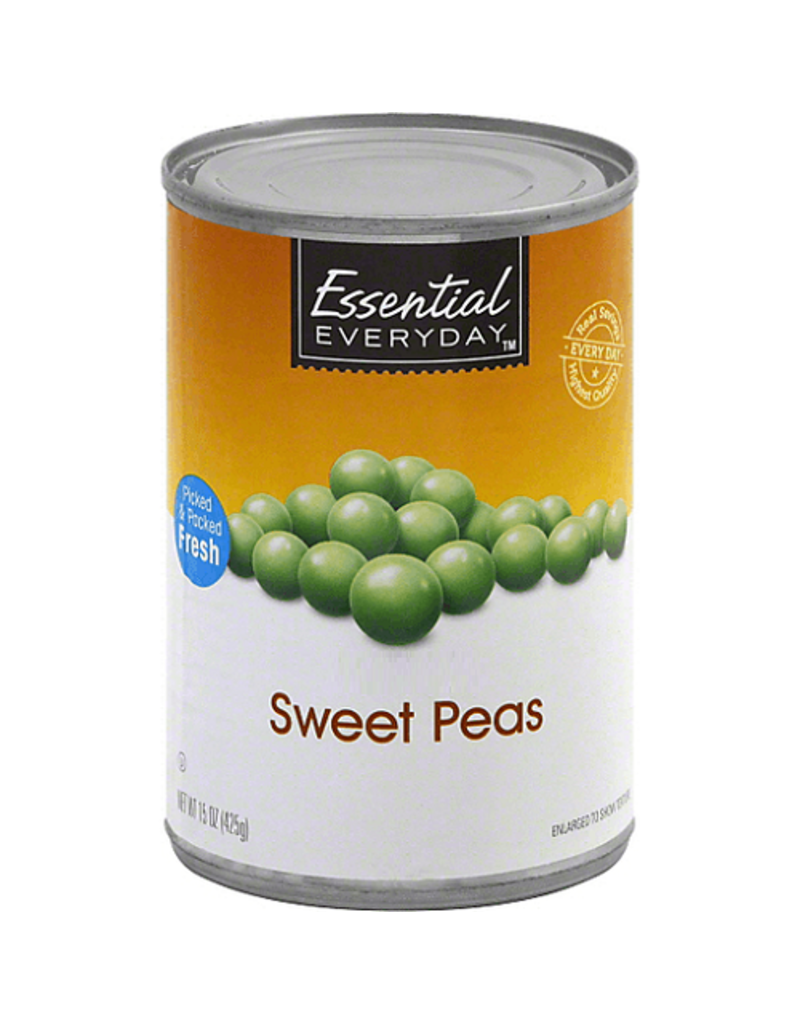 Essential Everyday EED Sweet Peas, 15 oz, 24 ct