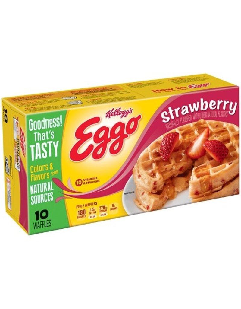 Eggo Eggo Strawberry Waffles 10 ct, 12.3 oz (Pack of 8)