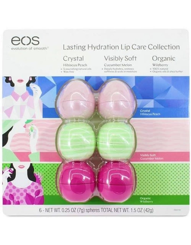 Evolution Of Smooth EOS Lip Care Spheres Collection, 6 ct