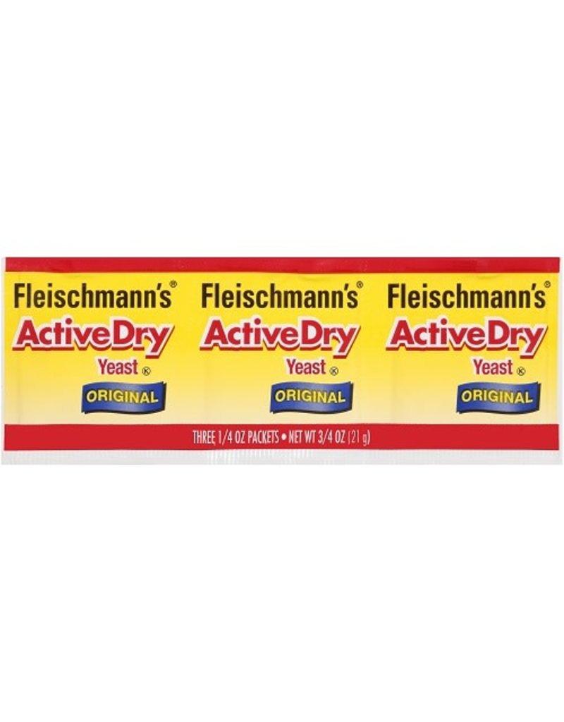 Fleischmann's Fleischmann's Yeast Active Dry Packet, 3 ct
