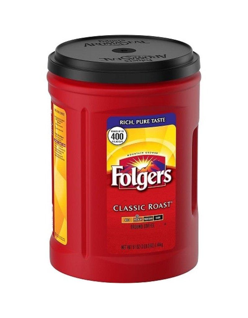 Folgers Folgers Coffee Ground Classic Roast, 51 oz