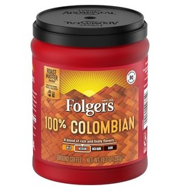 Folgers Folgers Ground Coffee 100% Colombian, 10.3 oz, 6 ct