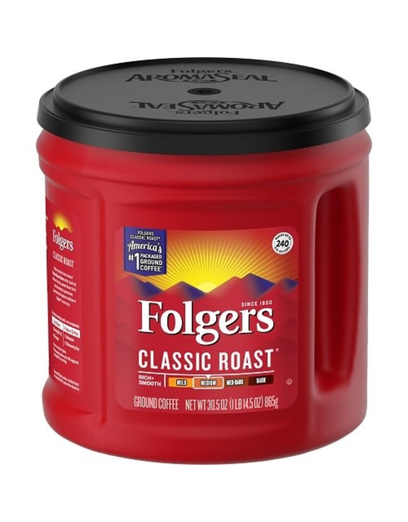 Folgers Folgers Ground Coffee Classic Roast, 30.5 oz, 6 ct