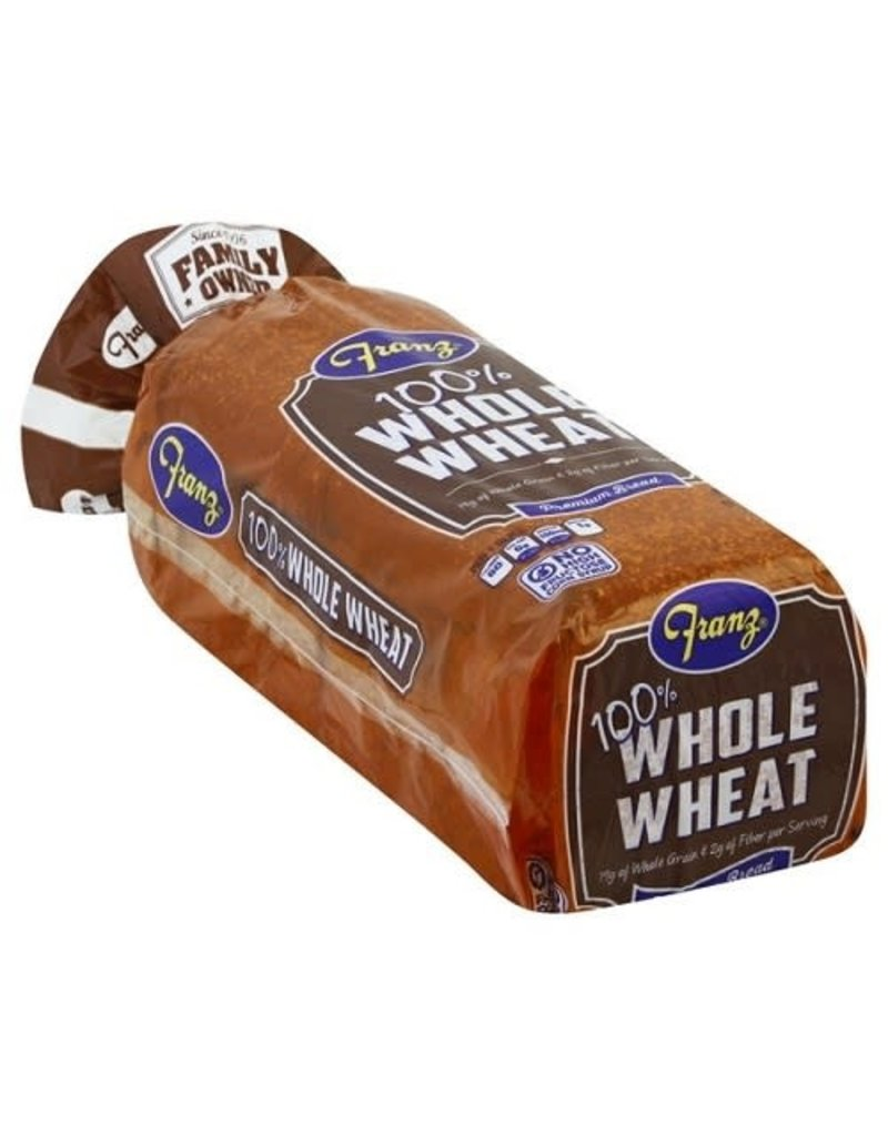 Franz Franz Bread 100% Whole Wheat, 24 oz