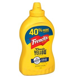French's French's Classic Squeeze Mustard, 20 oz, 12 ct