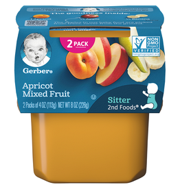 Gerber Gerber 2nd Foods Apricot Mixed Fruit, 8 oz