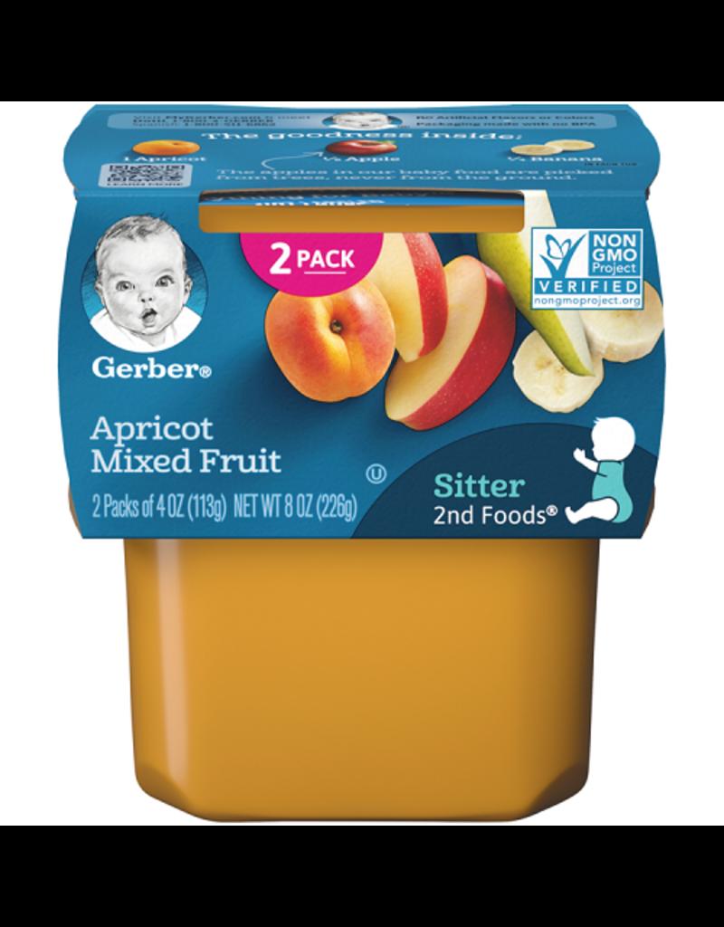 Gerber Gerber 2nd Foods Apricot Mixed Fruit, 8 oz